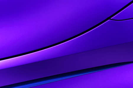 Bodywork of violet sedan, fender and door of sport car in ultramodern style, abstract detail of concept modern vehicle