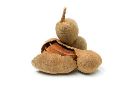 Tamarind, ripe exotic tropical fruit isolated on white background, healthy food, diet nutrition