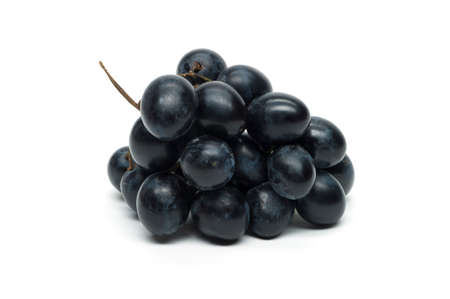Grape isolated on white background, bunch of black berries, healthy food, diet nutrition Reklamní fotografie