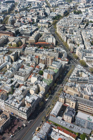 trafic: Urban view from high building in Paris Stock Photo