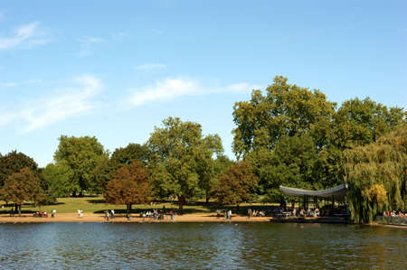 Hyde Park - The Serpentine Boating Lake - London