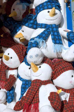A collection of Funfair snowmen