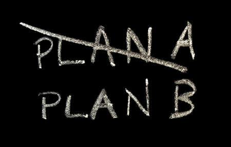 Plan A and Plan B on a blackboard