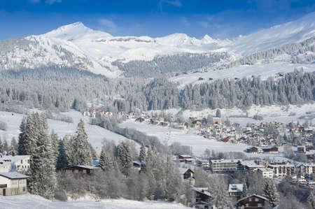 Alpine Ski Restort in Flims, Switzerland Stock Photo