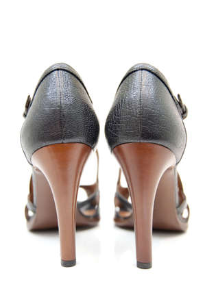 Womens high heels with selected focus Stock Photo