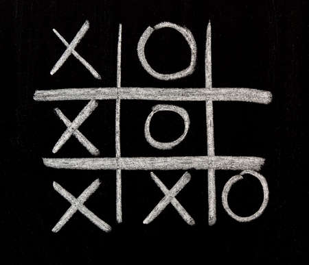 toe: Tic Tac Toe on chalkboard