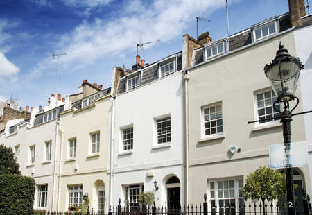 chelsea: Terraced Houses in Knightsbridge, London Stock Photo