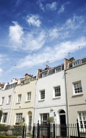 knightsbridge: Terraced Houses in Knightsbridge, London Stock Photo