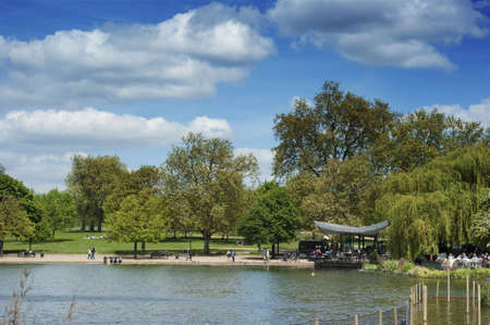 The Serpentine Lake in Hyde Park London Stock Photo