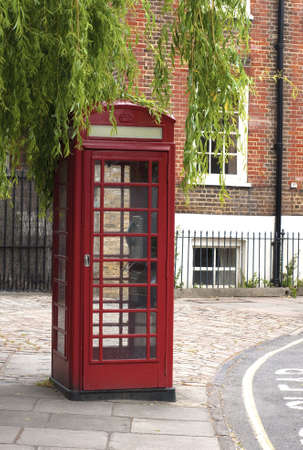 Traditional red telephone box photo