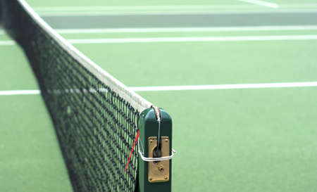 Tennis Net with selected focus photo