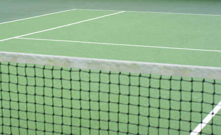Tennis Net with selected focus Stock Photo