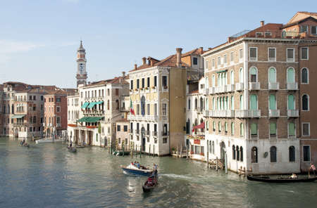 Grand Canal view of Venice, Italy photo