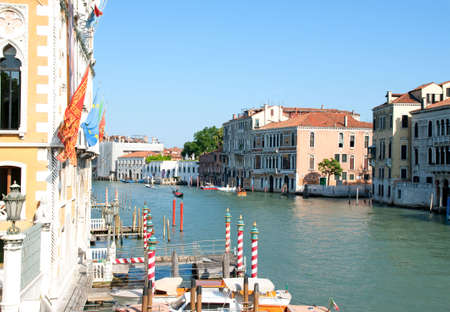 Venice Grand Canal with boats in the distance