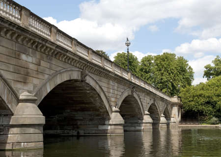 Serpentine Bridge in Hyde Park in London