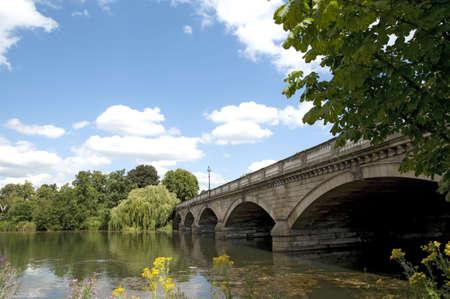 Serpentine Bridge in Hyde Park in London