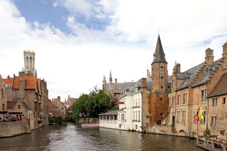 Canal in Bruges, Flanders Belgium photo
