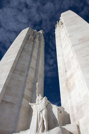 Vimy World War One War Memorial in France Stock Photo