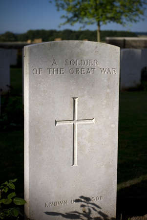 Grave of a Canadian soldier from WWI in Vimy Ridge Memorial Editorial