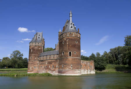 Beersel Castle in Brussels, Belgium