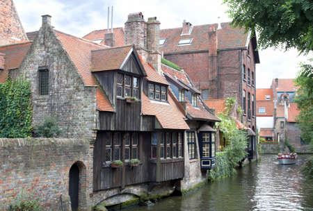 Canal and Houses in Bruges