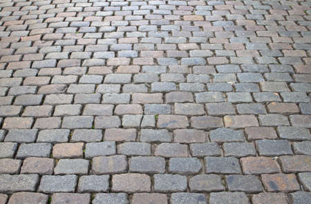 Cobbles on a road in Belgium photo