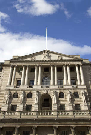 The Bank of England in the city of London Stock Photo