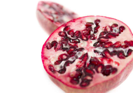 Close up image of Pomegranate section with shallow depth of field photo