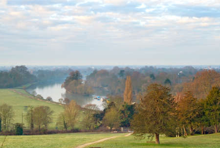 Richmond Hill and the Thames at dawn Stock Photo