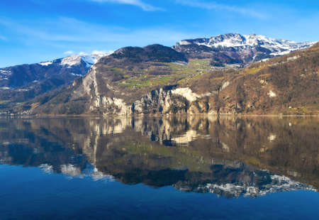 Switzerland - Walensee lake nr  St. Gallen Stock Photo