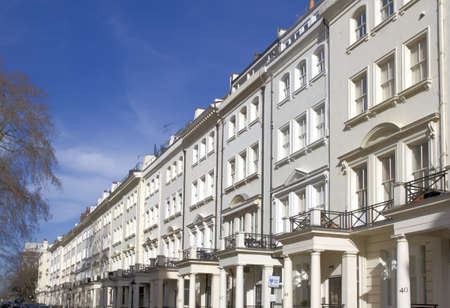 terraced field: Apartments in Knightsbridge and Chelsea Stock Photo
