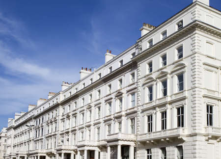 chelsea: Apartments in Knightsbridge and Chelsea Stock Photo