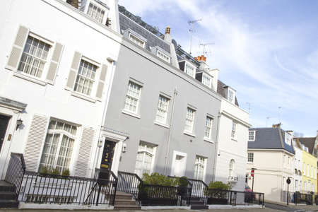 knightsbridge: Houses in Knightsbridge London Stock Photo