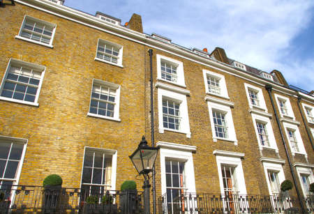 knightsbridge: Apartments in Knightsbridge and Chelsea, London, UK Stock Photo