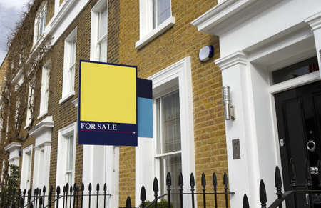 For sale house in London Stock Photo - 11716772