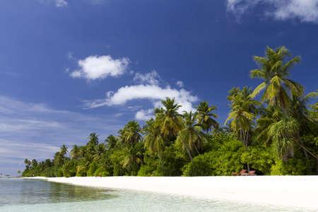 Beach scene in the Maldives Stock Photo