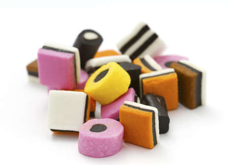 Selection of liquorice allsorts with shallow DOF
