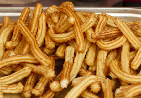 Fried Spanish Churros ready for eating