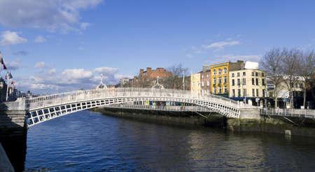 dublin ireland: Hapenny Bridge in Dublin Ireland