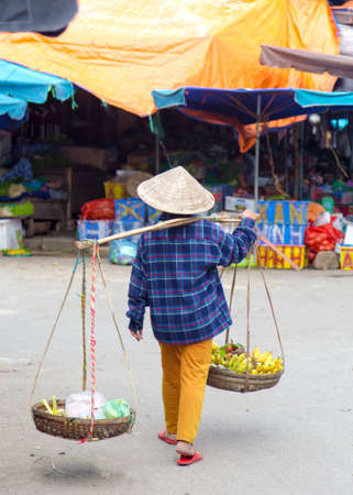 Typical street vendor in Hoi An, Vietnam