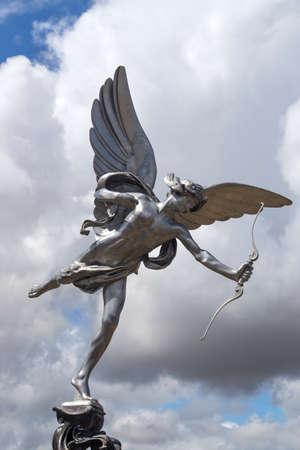 eros: Eros love statue at Piccadilly Circus. London, United Kingdom.