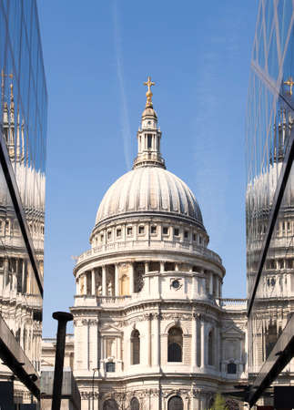 st pauls: St Pauls Cathedral in London England Stock Photo