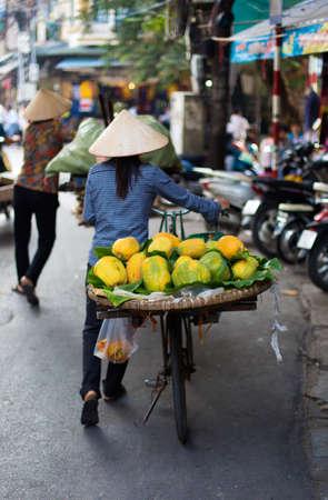 A Typical Street Vendor in Hanoi Vietnam