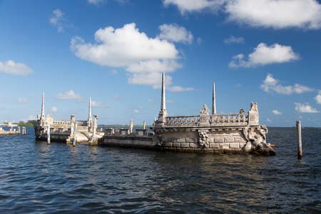 Stone barge at the Vizcaya Museum and Gardens