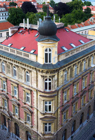 Typical Prague Building from above