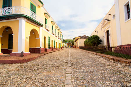 typical: Typical street in Trinidad Cuba