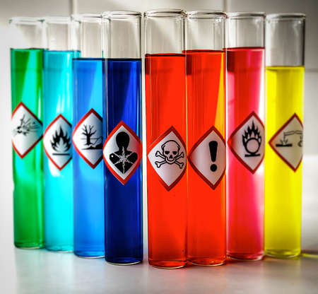 정렬 화학 위험 그림 - 독성