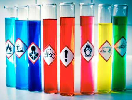 Aligned Chemical Danger pictograms - Health Hazard