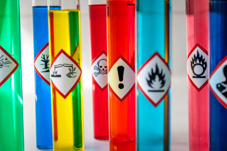oxidising: Chemical Health hazard pictogram Stock Photo