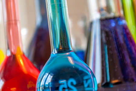 analyses: Chemistry blue Stock Photo